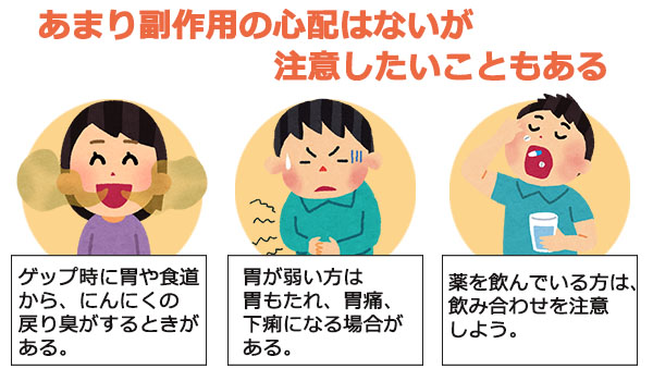 にんにく卵黄の副作用について