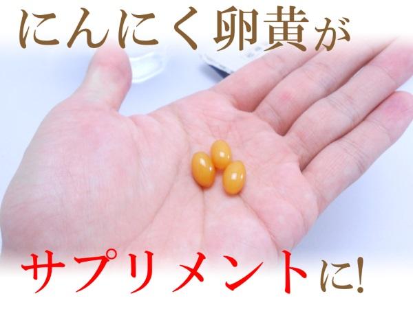 にんにく卵黄がサプリメントに!