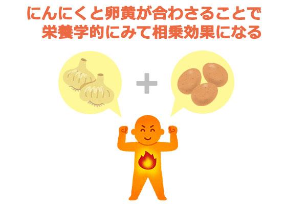 にんにくと卵黄の相乗効果